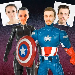 PERSONALISED SUPERHERO ACTION FIGURES - $125.29