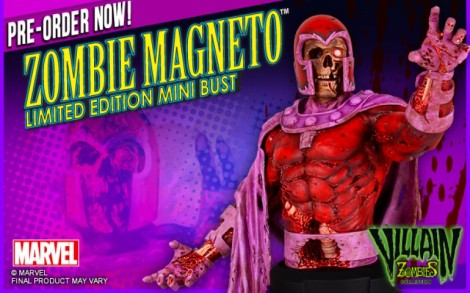 marvel dc collectibles zombie magneto
