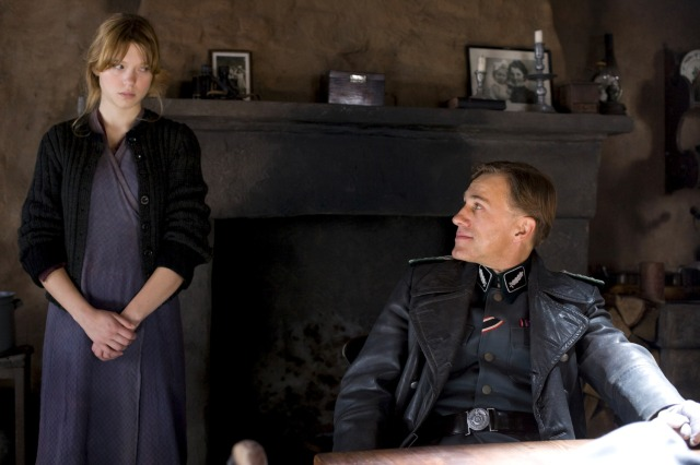 Léa Seydoux and Christoph Waltz in 2009's Inglourious Basterds