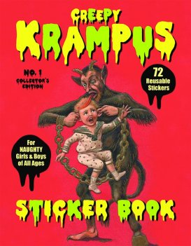 horror xmas products amazon krampus sticker book