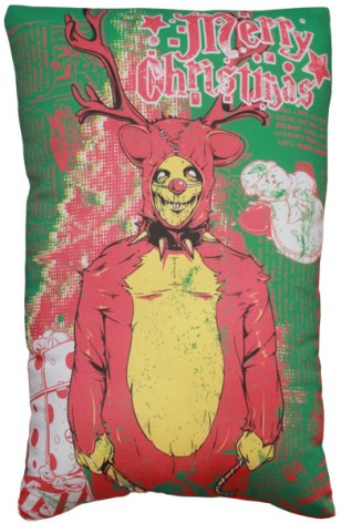 horror xmas products horror decor christams pillow 1