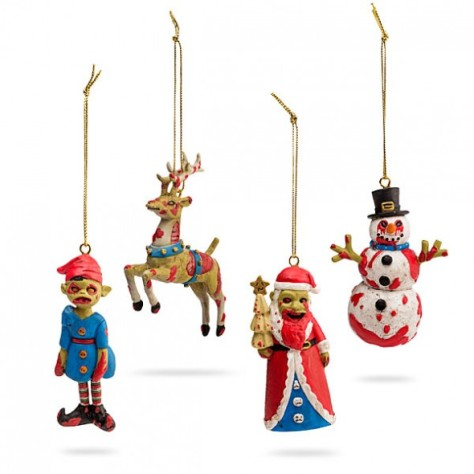 horror xmas products think geek horror tree decorations