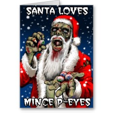 horror xmas products zazzle card 4