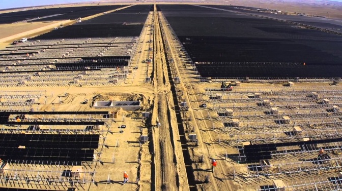 California Company Opens World's Largest Solar Farm