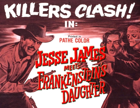 mashup movies jesse james meets frankenstein