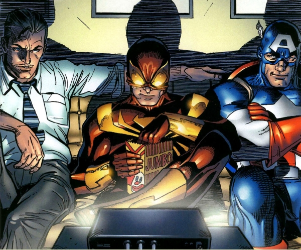 Iron Spider Cap and Iron Man