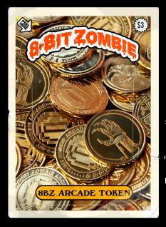 8 bit zombie homemade tokens