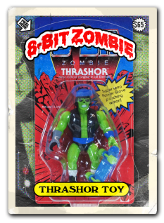 8 bit zombie homemade toy