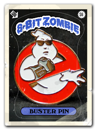 8 bit zombie sold out badge