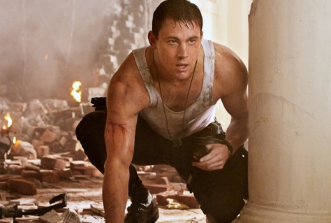 Tatum doing his best 'John McClane' in White House Down (2013)