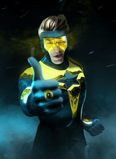 Fillion as Booster Gold