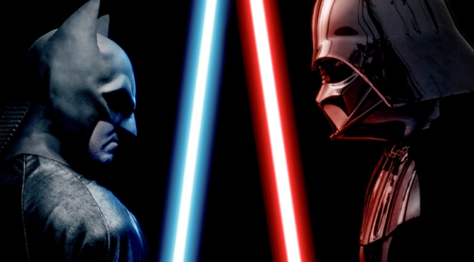Super Power Beatdown: Batman vs. Darth Vader? Yes please.