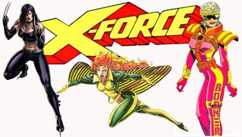X-23, Syrin, and Boom Boom.
