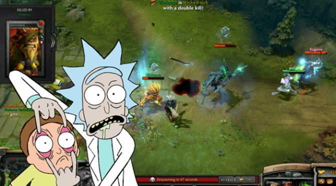 Rick and Morty Star in New Pokemon-Style Game and Dota 2!!!