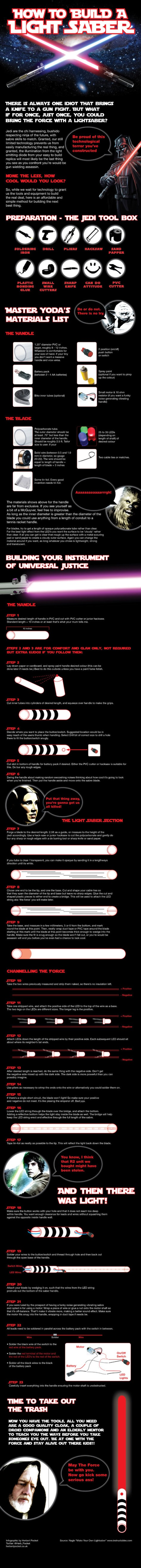 how to make a lightsaber