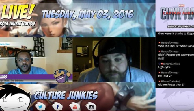 Dr. Kronner on Culture Junkies! The MCU Lead-up to Civil War…