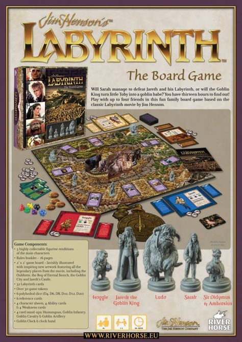 labyrinth 30th annivesary board game 1