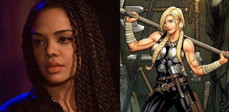 Tessa Thompson and Valkyrie